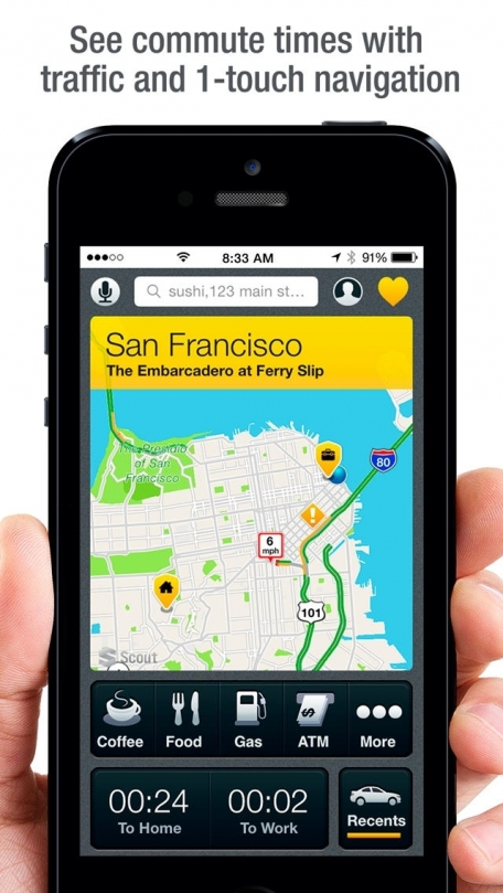 Scout GPS, Maps, Voice Navigation & Traffic