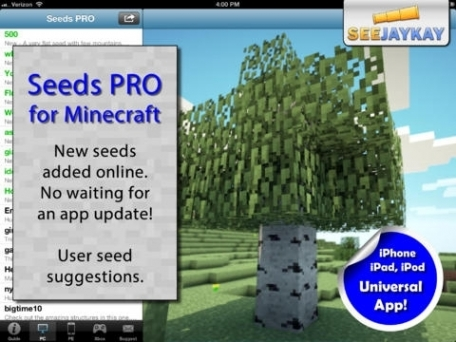 Seeds PRO - for Minecraft