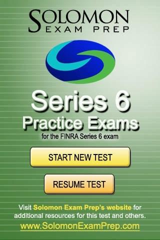 Series 6 - Practice Exams