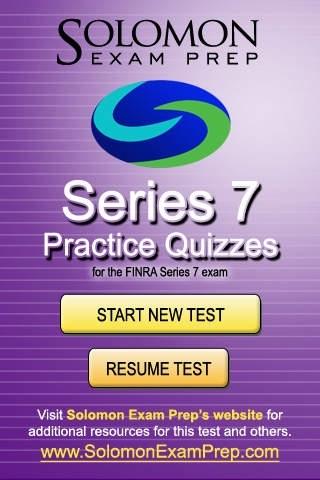 Series 7 - Practice Quizzes