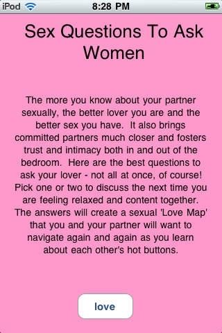 Womens sex questions