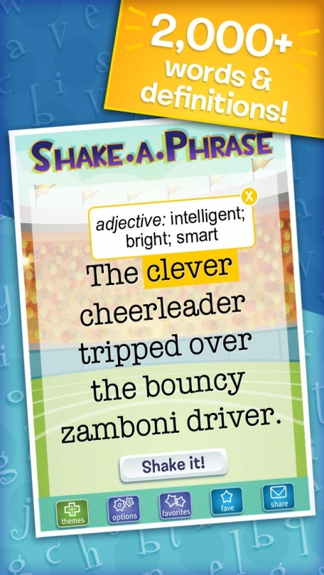 Shake-a-Phrase: Fun With Words and Sentences
