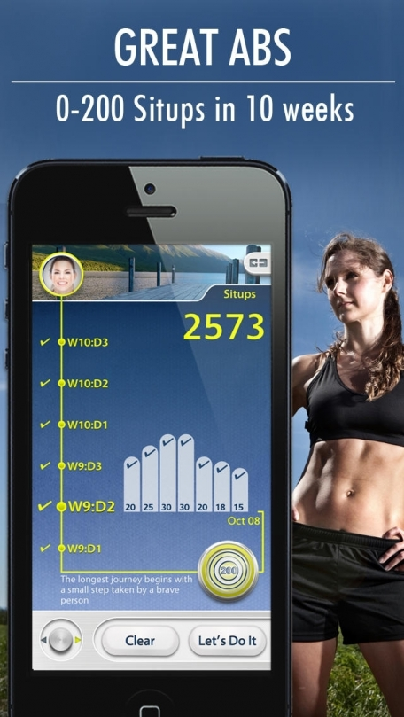 Situps 0 to 200: Sit Ups Workout Trainer, Abs exercise free to help weight loss