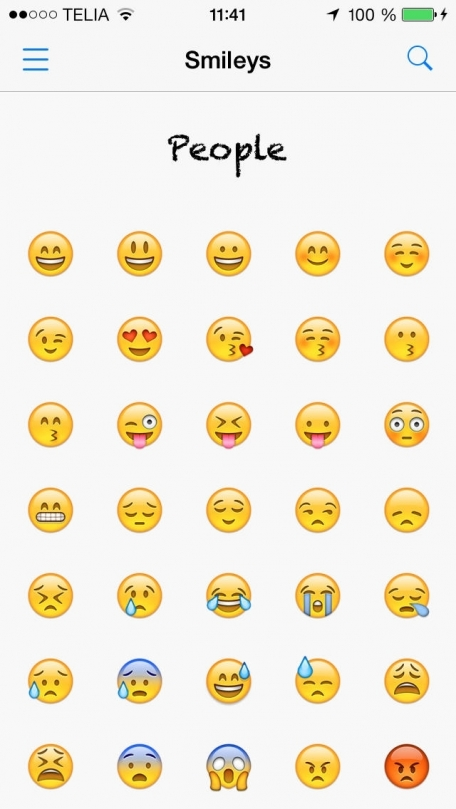 Smileys Lookup Emoji Names And Meanings Social Networking App