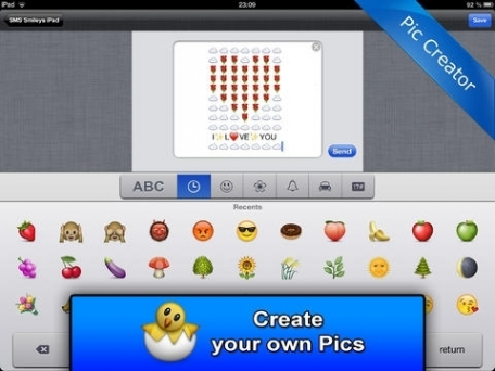 SMS Smileys Emoji Emoticon Art for iMessage, Facebook, Twitter - Emojis Sticker - PRO