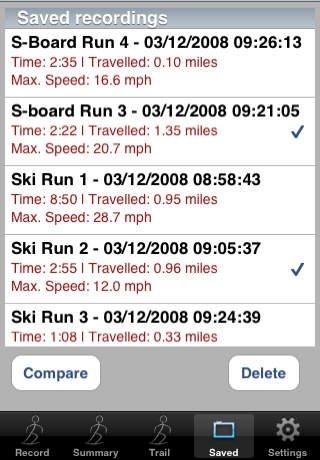 SnowTrails - Ski and Snowboard run recorder and playback