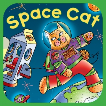 Space Cat - an interactive book for kids