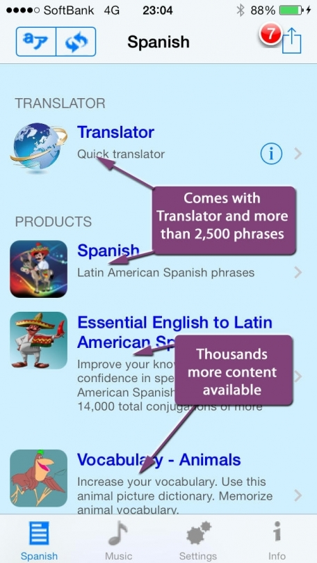 Spanish - Talking English to Spanish Phrasebook + Translator