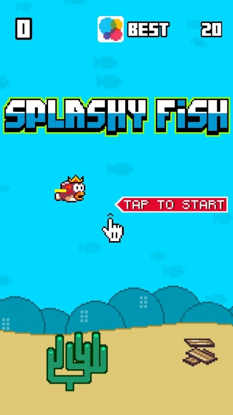 Splashy Fish - The Adventure of a Flappy Tiny Bird Fish