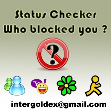 Status Checker for MSN,YAHOO,AIM,ICQ