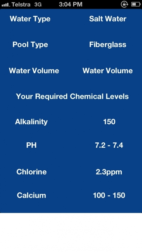 Swimming Pool Water - Volume and Chemical Calculator