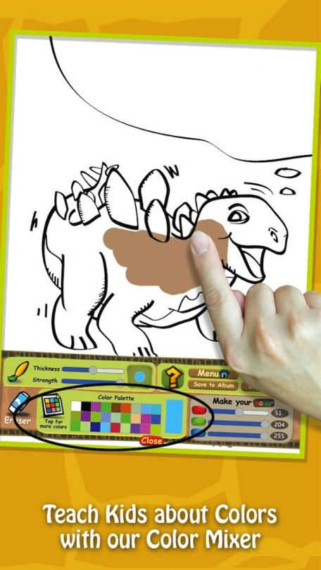 Swipea Paint Play For Kids Dinosaur Coloring Drawing Doodle Art Studio