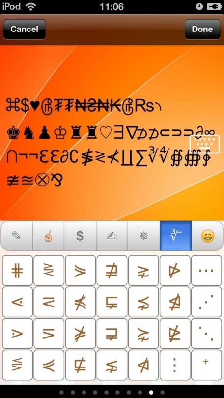 Symbol Keyboard Unicode Icons Characters Symbols Cool Fonts