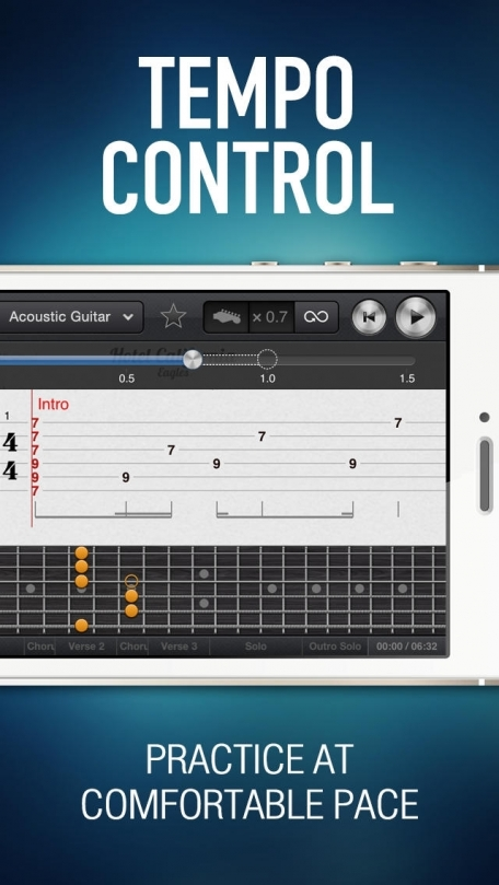 Tab Pro – largest catalog of interactive guitar tablatures with multiple instrument tracks