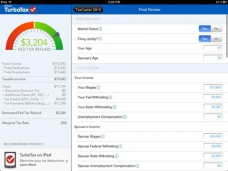 TaxCaster by TurboTax – Free tax refund calculator