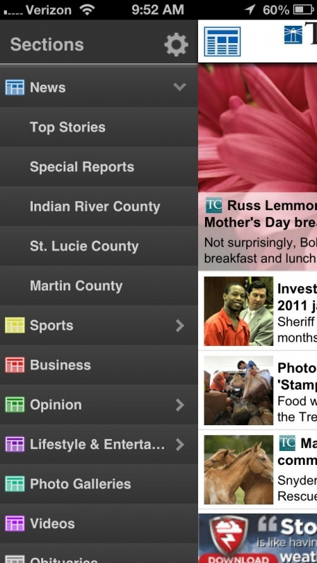 TCPalm/Treasure Coast Newspapers for iPhone  - The Stuart News, St. Lucie News Tribune, Press Journal