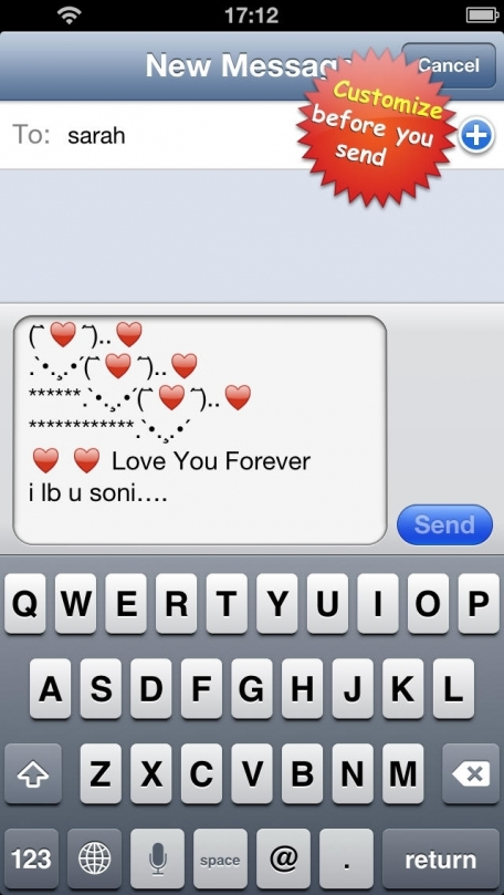Text and Pics, Emoticons Symbols for sms, email & facebook messenger
