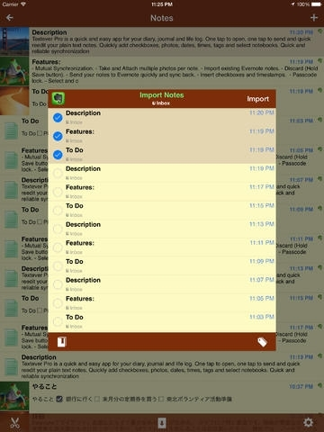 Textever Pro – take Evernote notes on the fly