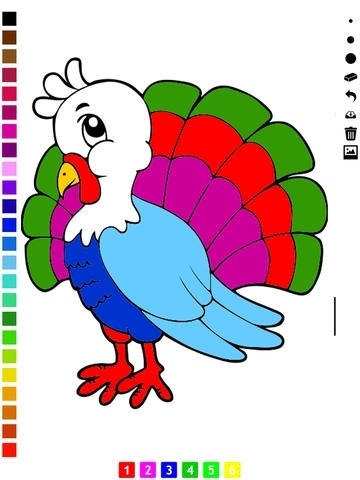 Thanks-giving Coloring Book for Children: Learn to draw and color ...