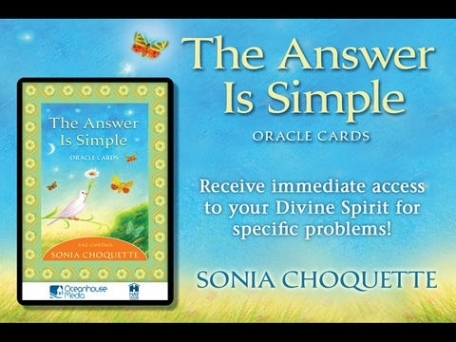 The Answer is Simple Oracle Cards - Sonia Choquette