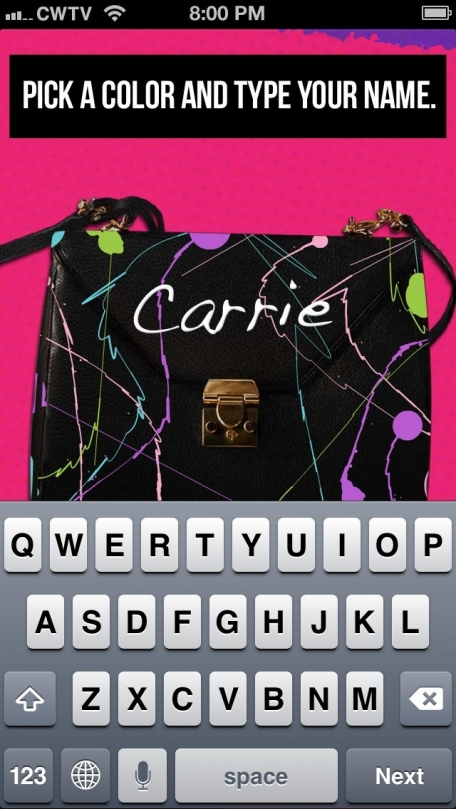 The Carrie Diaries Purse-onalizer