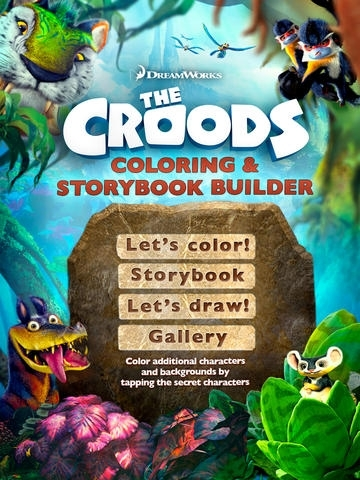 The Croods Coloring and Storybook Builder
