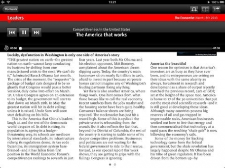 The Economist for iPad