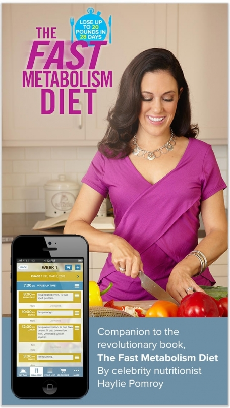 The Fast Metabolism Diet App – Customized meal planning, food lists, and diet tools