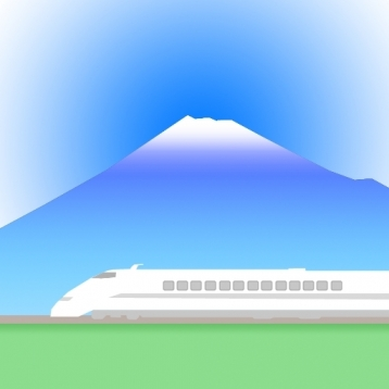 The landscape from Tokaido Shinkansen (for iPhone4)