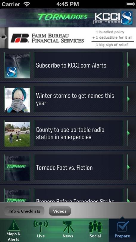 Tornadoes KCCI 8 Des Moines, Iowa