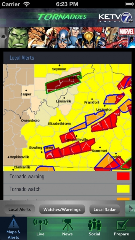 Tornadoes KETV NewsWatch 7 Omaha, Nebraska
