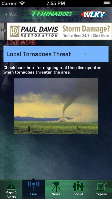 Tornadoes WLKY 32 Greater Louisville, Kentucky