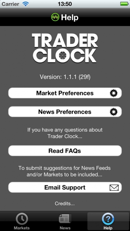 Trader Clock : Market Hours and News