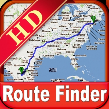 Travel - Route Finder Map HD
