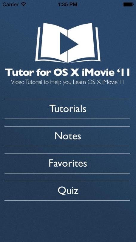 Tutor for OS X iMovie '11