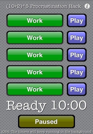 (10+2)x5 Procrastination Hack