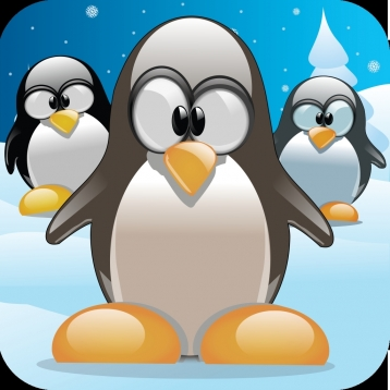 Pinging Penguins - Ping The Fun Loving Penguin As They Slide Through The Snowy Winter Wonder land With Chill Snowballs