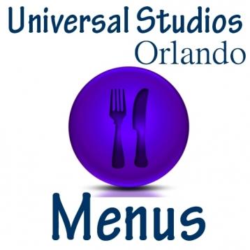Universal Studios Menus