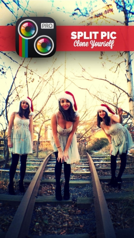 Split Pic Pro Photo Editor - Clone Yourself, Mirror Effect IG Edits with Filters + Pic Collage Blender with Facebook Friends