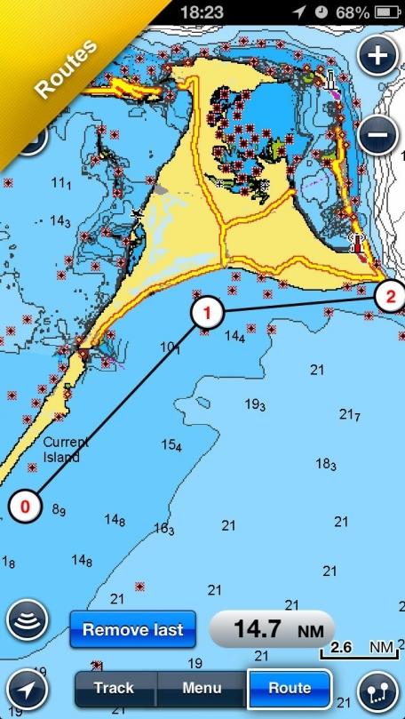 Navionics Boating: marine & lakes charts, routes, GPS tracks for cruising, fishing, yachting, sailing, diving.