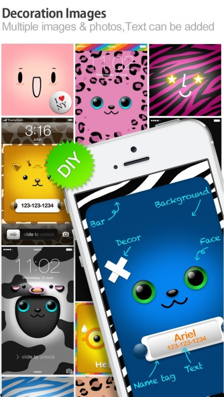 iFaceMaker ( Cute and funny faces ) : for Lock screen, Call screen, Contacts profile photo, instagram and iOS7