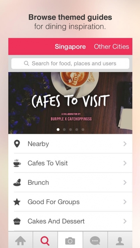 Burpple — Social Food Guide. Find cafes & restaurants. Hungry? Recommend menu dishes to eat for breakfast, brunch, lunch, dinner.