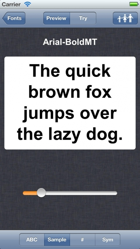 View Font (Font preview tool for Developer and Designers, can view examples of fonts on your device) HD