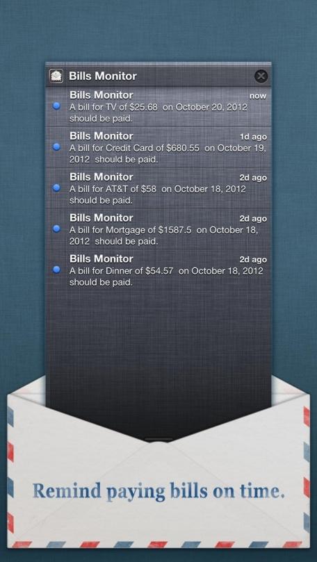 Bills Monitor Free – Bill Manager & Reminder