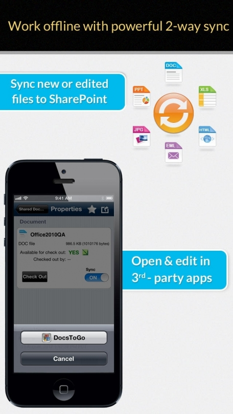 Colligo Briefcase Pro: SharePoint for iPad and iPhone