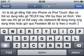.Vn - Bộ gõ tiếng Việt cho iPhone/iPod Touch/iPad