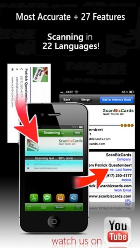 ScanBizCards Lite Business Card Scanner + Reader