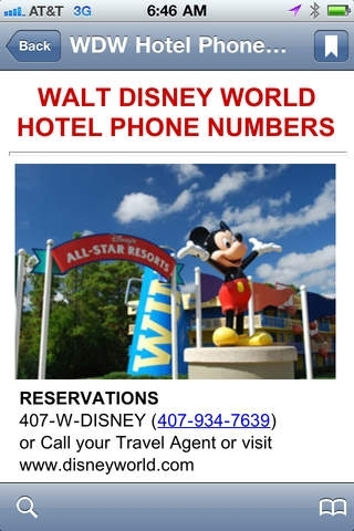 Walt Disney World Phone Numbers