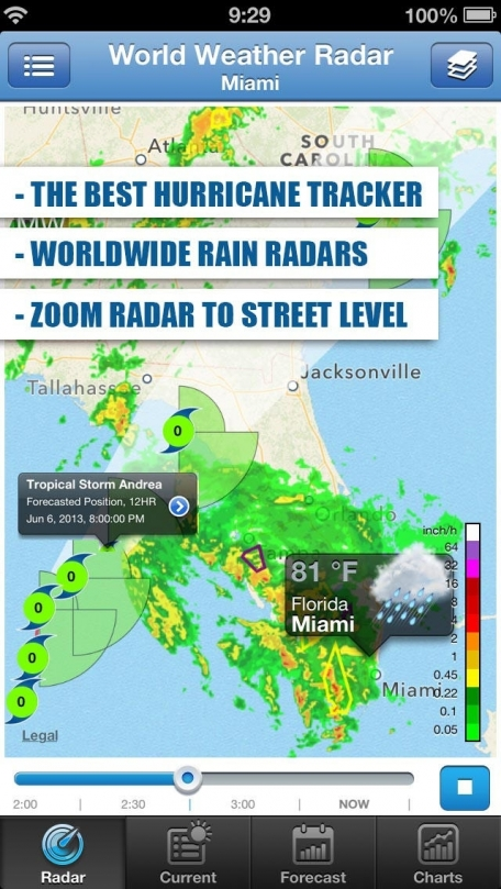 World Radar Free - NOAA Weather Forecast - Hurricane Tracker