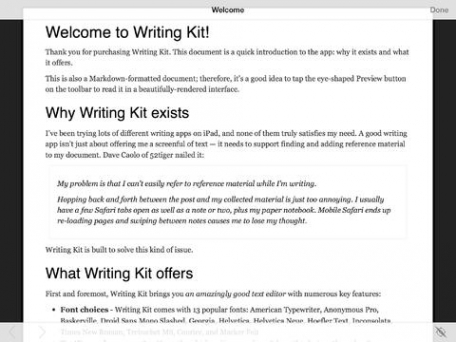 Writing Kit - Research & Write Markdown/Fountain Documents